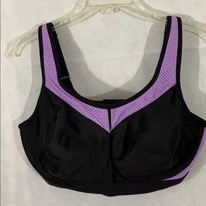 NWOT 36F Glamorise bra lavender and black